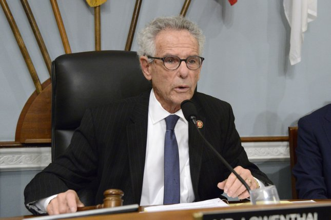 Rep. Alan Lowenthal, D-Calif., led over 100 House Democrats in signing a letter, released Friday, rejecting President Donald Trump's Middle East peace plan. File Photo by Mike Theiler/UPI