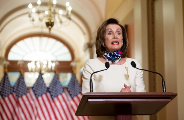 Speaker of the House Nancy Pelosi speaks Tuesday about The HEROES Act, a $3 trillion billto aid in recovery from COVID-19 at the U.S. Capitol in Washington, D.C. Photo by Saul Loeb/UPI