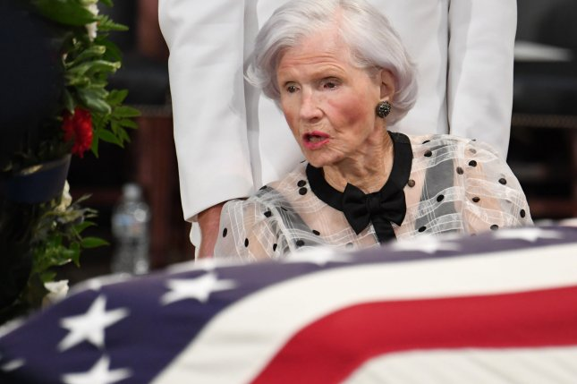 Roberta McCain, mother of late U.S. Sen. John McCain died at age 108 in her home in Washington, D.C., family members said Monday. File Photo by Pat Benic/UPI