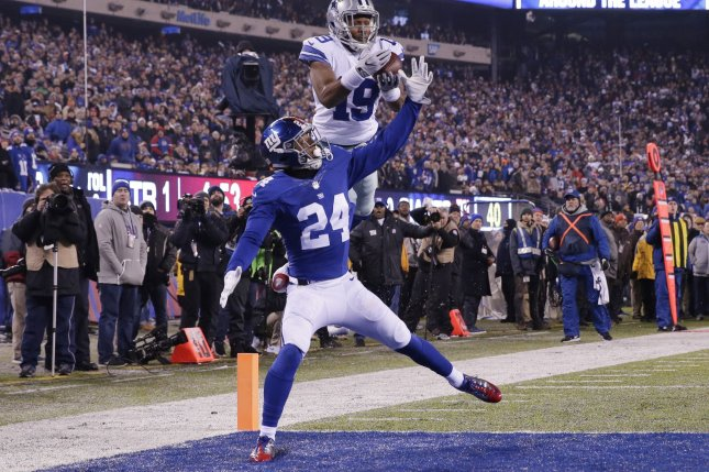 9dc0f1488 New York Giants cornerback Eli Apple (24) defends former Dallas Cowboys  wide receiver Brice Butler who drops a pass near the end zone in the first  quarter ...