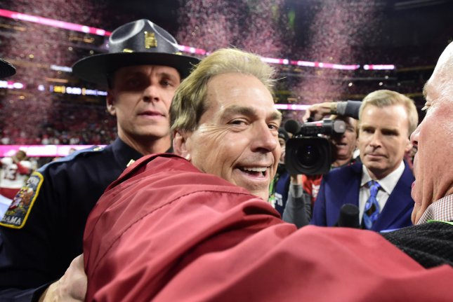 Alabama Crimson Tide head coach Nick Saban. Photo by David Tulis/UPI