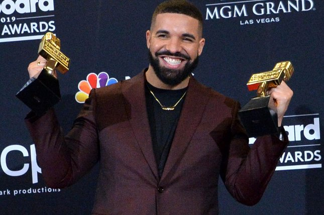 Rapper Drake's Care Package is the No. 1 album in the United States. File Photo by Jim Ruymen/UPI