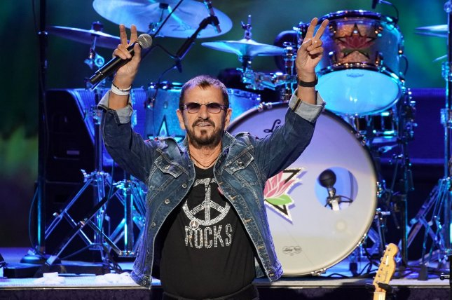 Ringo Starr & His All-Starr Band perform at the 50th anniversary of the Woodstock Music Festival at Bethel Woods Center For The Arts on August 16 in Bethel, N.Y. He turns 80 on July 7. File Photo by John Angelillo/UPI