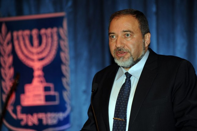 Israeli Defense Minister Avigdor Lieberman resigned Wednesday to protest Israel's cease-fire with Hamas. File Photo by Debbie Hill/UPI