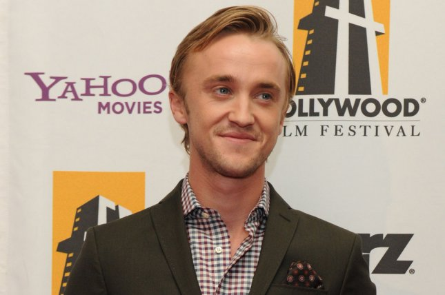 Tom Felton posted a photo Monday with Emma Watson and Matthew Lewis. File Photo by Jim Ruymen/UPI