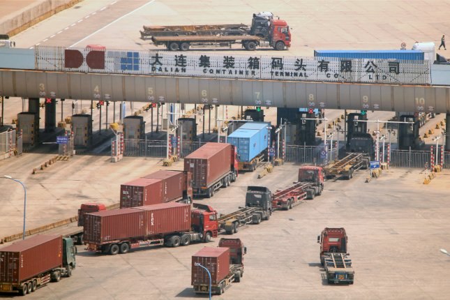 A shipping route between Dalian, China and Nampo, North Korea, has been temporarily closed, UNICEF confirms. File Photo by Stephen Shaver/UPI