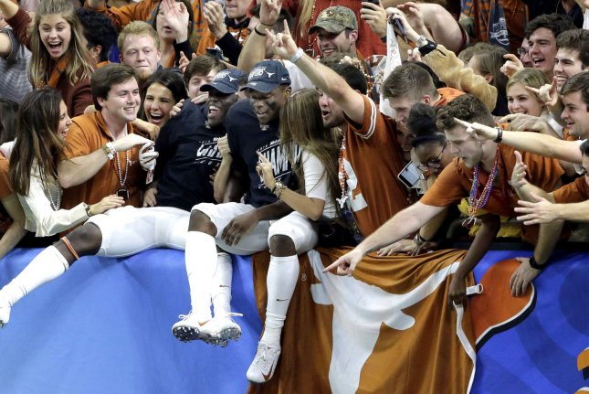 The Texas Longhorns (pictured) and Oklahoma Sooners were among the first teams to participate in the Big 12 Conference in 1996. File Photo by AJ Sisco/UPI