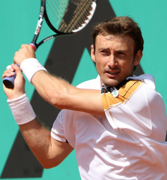 Juan Carlos Ferrero, shown during the 2010 French Open, posted an upset win Wednesday and advanced to the quarterfinals of the Croatia Open. He won the event last year. UPI/David Silpa