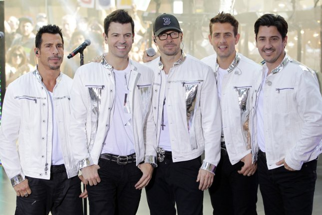 New Kids On The Block band members Danny Wood, Jordan Knight, Donnie Wahlberg, Joey Mcintyre and Jonathan Knight perform with 98 Degrees & Boyz II Men on the NBC Today Show at Rockefeller Center in New York City on May 31, 2013. UPI/John Angelillo