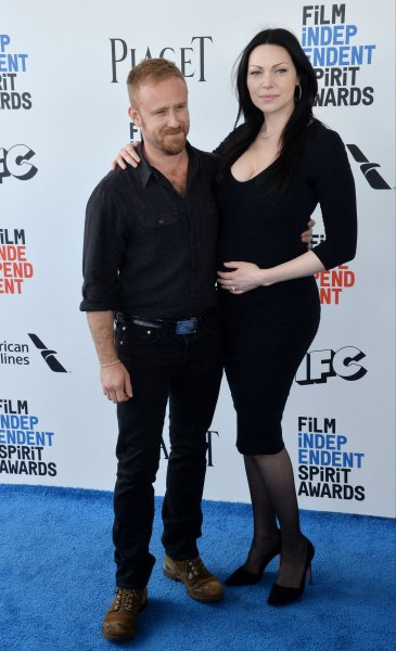 Actors Ben Foster (L) and Laura Prepon attend the 32nd annual Film Independent Spirit Awards in Santa Monica on February 25. Photo by Jim Ruymen/UPI