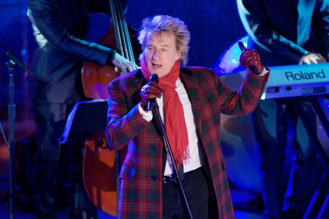 Singer Rod Stewart and his son Sean Stewart have been ordered to appear in court to answer charges they assaulted a Florida security guard on New Year's Eve. File Photo by Monika Graff/UPI