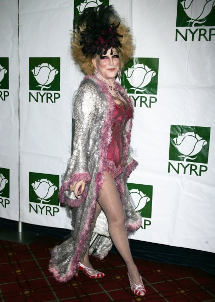 Bette Midler arrives at the Hulaween Benefit Gala at the Waldorf Astoria Hotel in New York on October 30, 2009. UPI /Laura Cavanaugh
