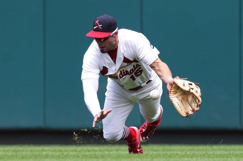 St. Louis Cardinals' Randal Grichuk. Photo by Bill Greenblatt/UPI
