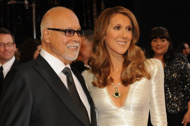 Celine Dion (R) and Rene Angelil at the Academy Awards on February 27, 2011. File Photo by Jim Ruymen/UPI