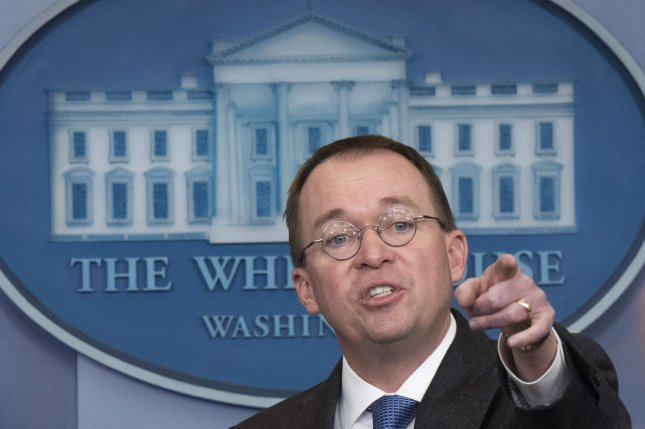 Mick Mulvaney, Director of the Office of Management and Budget, replacing four-star Marine General John Kelly, who is leaving the position at the end of the year, Trump tweeted Friday. File Photo by Kevin Dietsch/UPI