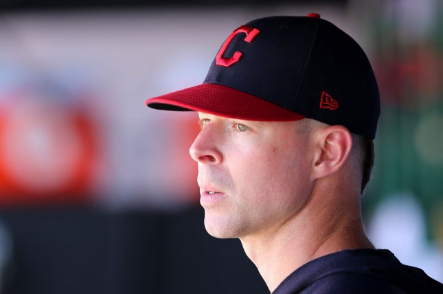 The Texas Rangers acquired Corey Kluber in a trade with the Cleveland Indians in December. He made his debut with the Rangers on Sunday, throwing one scoreless inning before exiting with a shoulder injury. File Photo by Aaron Josefczyk/UPI