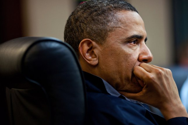 U.S. President Barack Obama listens during one in a series of meetings discussing the mission against Osama bin Laden, in the Situation Room of the White House, May 1, 2011. UPI/Pete Souza/White House