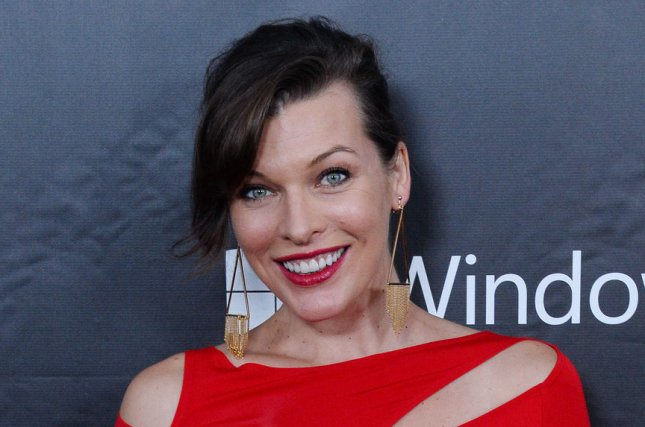 Milla Jovovich shared photos from daughter Dashiel's baptism on Instagram. File photo by Jim Ruymen/UPI