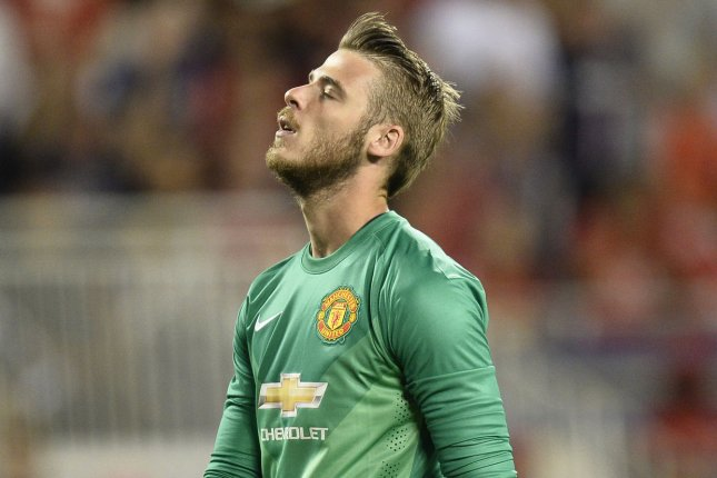73b9aa15c Manchester United goalkeeper David De Gea of Spain reacts after giving up a  goal during the 2015 International Champions Cup in Chicago in 2015.