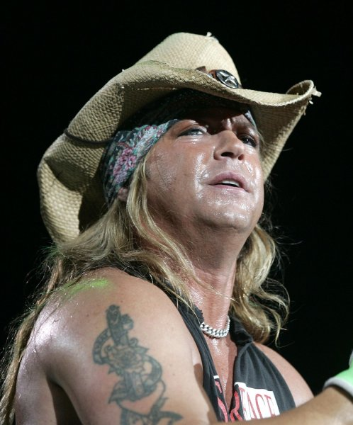 Bret Michaels with Poison performs in concert at the Sound Advice Amphitheatre in West Palm Beach, Florida on September 1, 2007. (UPI Photo/Michael Bush)