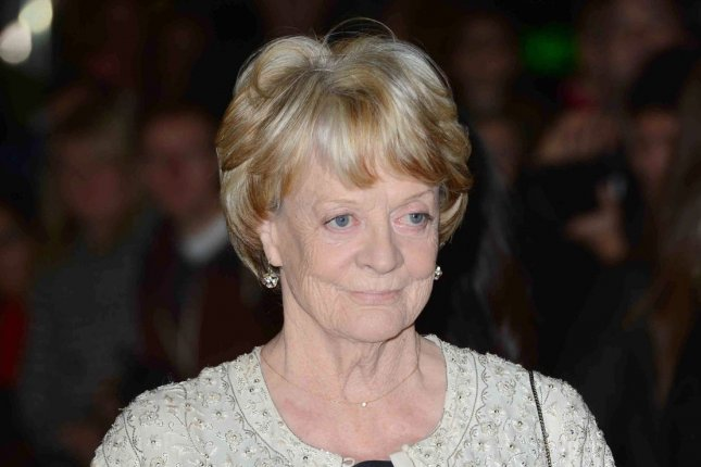 Maggie Smith at the London premiere of 'Quartet' on October 15, 2012. The actress discussed the end of 'Downton Abbey' on Thursday. File photo by Paul Treadway/UPI