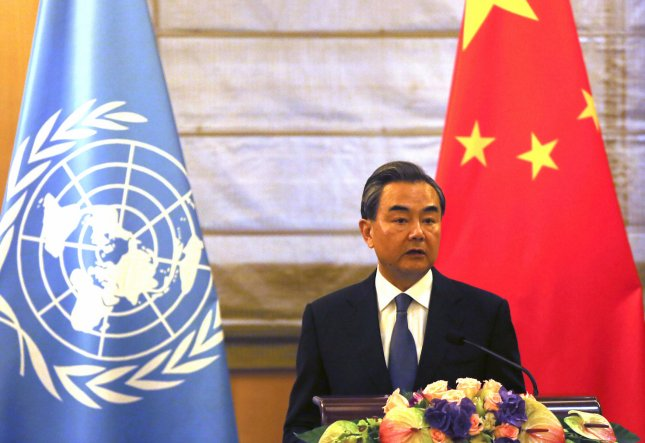 China's Foreign Minister Wang Yi compared the United States and North Korea to two accerlerating trains ready to crash, in remarks Wednesday in Beijing. He called for a pause in North Korea's nuclear weapons tests and a suspension of U.S. military exercises with South Korea. File Photo by Stephen Shaver/UPI