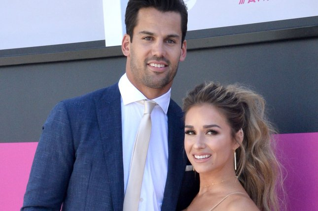 New York Jets wide receiver Eric Decker (L) and singer Jessie James Decker attend the 52nd annual Academy of Country Music Awards on April 2. Decker is now involved in various trade and release rumors. Photo by Jim Ruymen/UPI