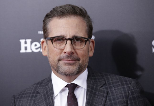 Steve Carell arrives on the red carpet at the New York premiere of The Big Short on November 23, 2015 in New York City. His movie Last Flag Flying is to open this fall's New York Film Festival.File Photo by John Angelillo/UPI