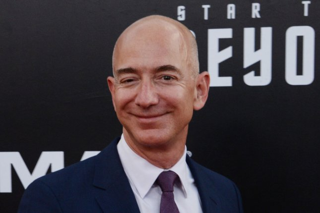 Amazon founder and CEO Jeff Bezos was listed briefly as the world's richest man on Thursday, on Forbes magazine's real-time ranking. File Photo by Jim Ruymen/UPI