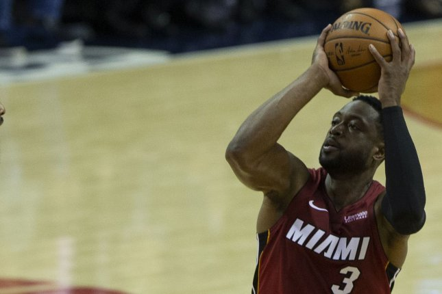Miami Heat guard Dwyane Wade scored just 11 points but had clutch plays down the stretch in a win against the Dallas Mavericks Thursday in Miami. File Photo by Alex Edelman/UPI