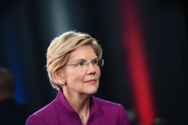 Sen. Elizabeth Warren outlined her plan to reform America's immigration policies if elected president in 2020. Photo by Kevin Dietsch/UPI