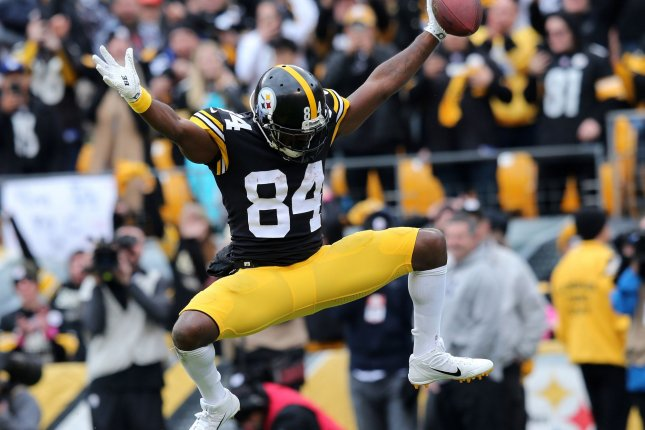 Former Pittsburgh Steelers receiver Antonio Brown is entering his first year with the Oakland Raiders. File Photo by Aaron Josefczyk/UPI