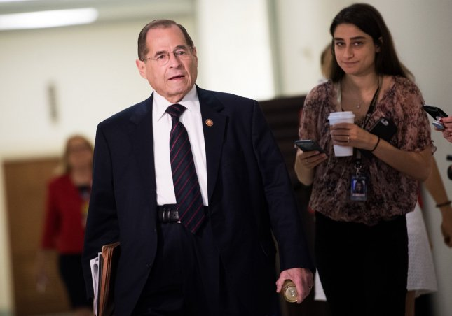 White House counsel told House Judiciary Committee Chairman Jerry Nadler that the Trump administration would not be participating in Wednesday's impeachment hearing. Photo by Kevin Dietsch/UPI