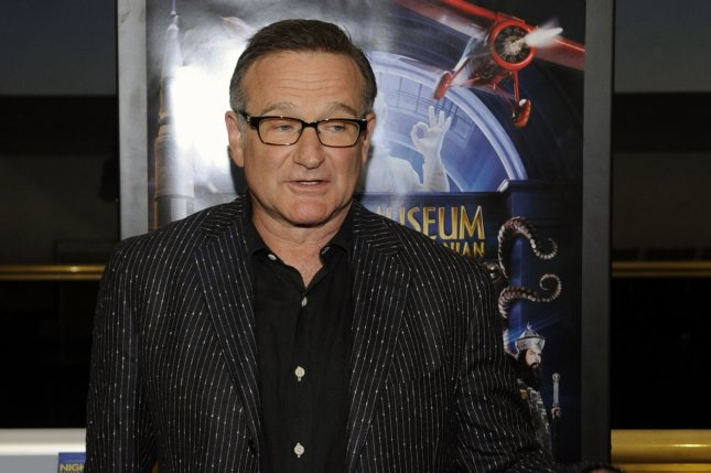 Robin Williams, pictured at a screening of Night at the Museum: Battle of the Smithsonian at the Smithsonian National Air and Space Museum in Washington in 2009, died by suicide in August 2014. File Photo by Alexis C. Glenn/UPI