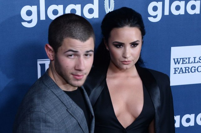Nick Jonas and Demi Lovato attend the 27th annual GLAAD Media Awards in Beverly Hills on April 2, 2016. The pair will perform at the July 4 Boston Pops Fireworks Spectacular on CBS. File Photo by Jim Ruymen/UPI