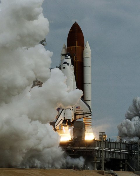 NASA's space shuttle Endeavour launches at the Kennedy Space Center May 16, 2011, on its 25th and final mission. UPI/Joe Marino-Bill Cantrell