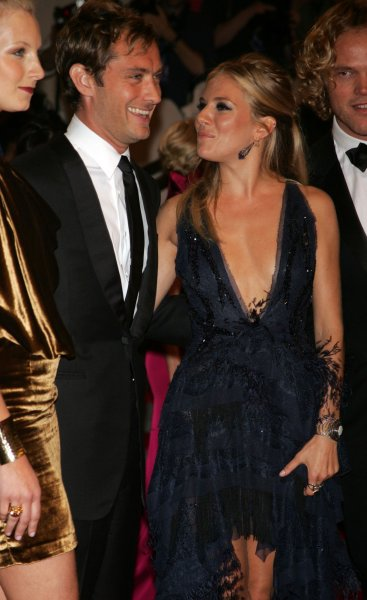 Sienna Miller and Jude Law arrive for the Metropolitan Museums of Art's Costume Institute Gala at the Metropolitan Museum of Art in New York on May 3, 2010. UPI /Laura Cavanaugh