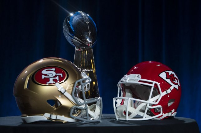 The Kansas City Chiefs have one Super Bowl victory in franchise history, while the San Francisco 49ers have won the Super Bowl five times. Photo by Kevin Dietsch/UPI