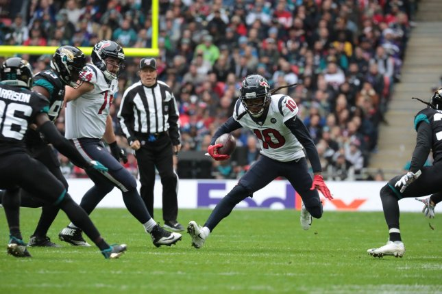 DeAndre Hopkins was an All-Pro and a Pro Bowl selection in each of the past three seasons. File Photo by Hugo Philpott/UPI