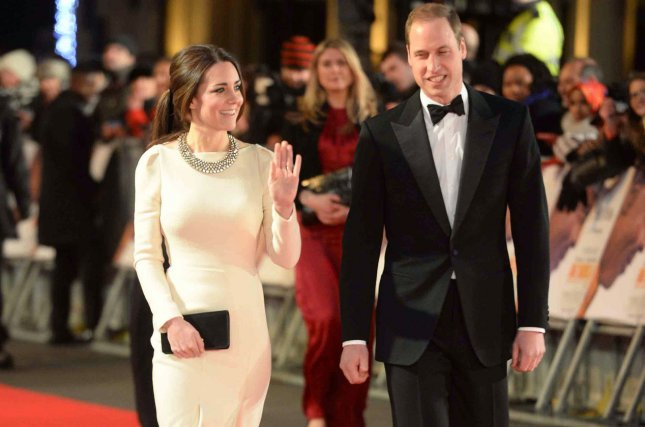 Catherine, Duchess of Cambridge, and Prince William in a 2013 UPI file photo. The couple have arrived in the United States for a tour of the Big Apple and Washington, D.C.
