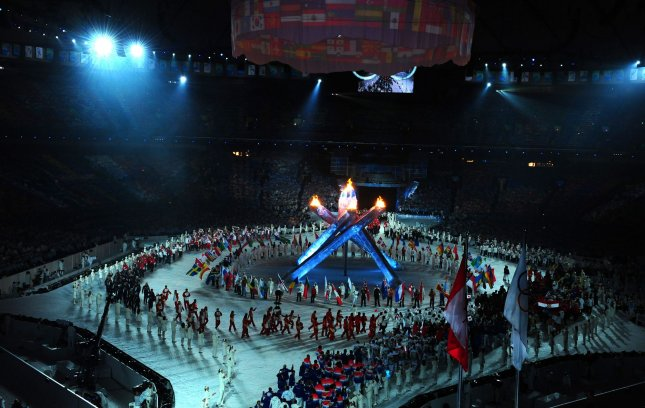 Athletes arrive for the closing ceremonies at Canada's Vancouver Winter Olympics Feb. 28, 2010. File Photo by Roger L. Wollenberg/UPI
