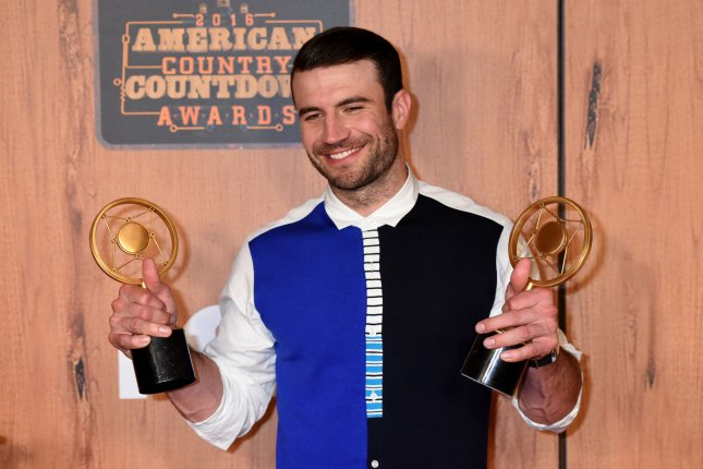 Singer Sam Hunt, winner of the awards for Digital Album of the Year and Breakthrough Male of the Year, poses in the press room at the 2016 American Country Countdown Awards at The Forum in Inglewood, Calif., on Sunday. Photo by Michael Owen Baker/UPI