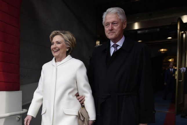 Hillary Clinton (L) and husband Bill Clinton attend Donald Trump's presidential inauguration on January 20. The former first lady reportedly turned down Dancing with the Stars. File Photo by Saul Loeb/UPI