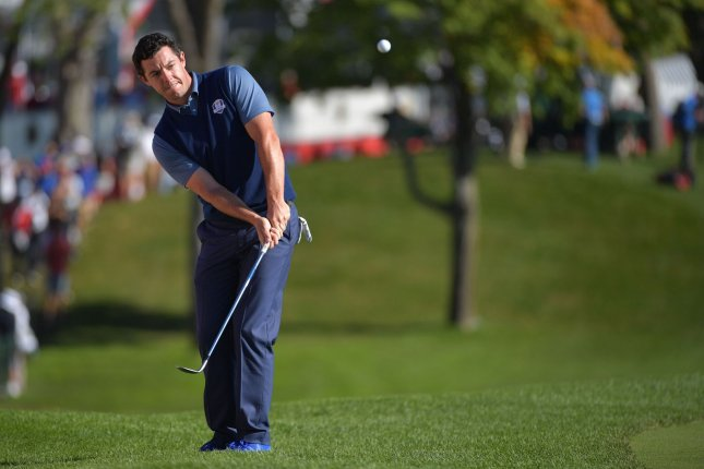 Rory McIlroy matched the low round of the day, carding a 6-under 65 on Friday to surge to a two-shot lead after two rounds of the World Golf Championships-Mexico Championship in Mexico City. File Photo by Kevin Dietsch/UPI