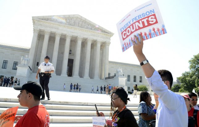 A federal judge blocked the Trump administration from including a question about citizenship on the 2020 census on Tuesday. Photo by Mike Theiler/UPI