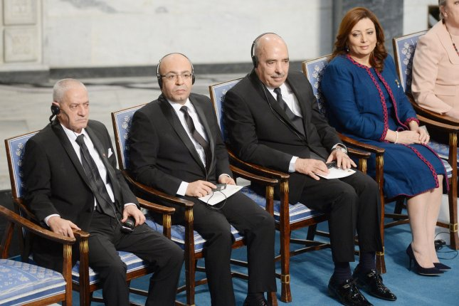 Tunisia's civil society organizations won the Nobel Peace Prize in 2015 for their remarkable role in nudging politicians to compromise and to form an all-parties government after the fall of the Ben Ali rule. File Photo by Rune Hellestad/UPI