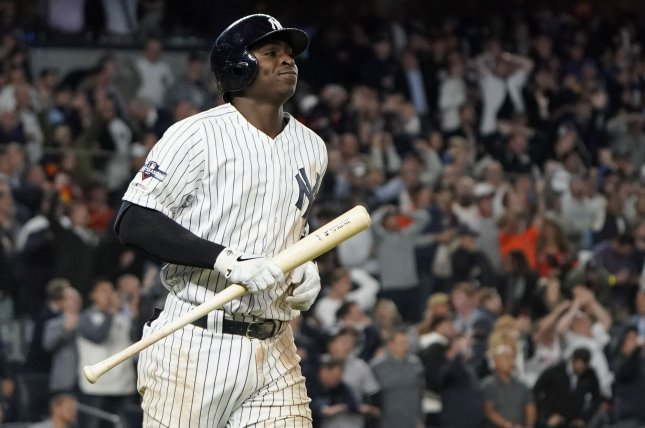 Former New York Yankees shortstop Didi Gregorius agreed to a one-year, $14 million deal with the Philadelphia Phillies on Tuesday. File Photo by Ray Stubblebine/UPI