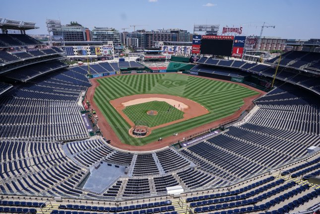 The Washington Nationals will host the New York Yankees on July 23 at Nationals Park in Washington, D.C. Photo by Kevin Dietsch/UPI