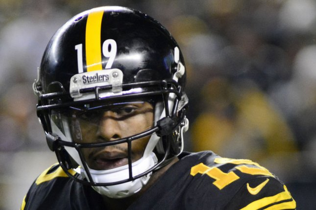 Pittsburgh Steelers wide receiver JuJu Smith-Schuster has a great matchup and should post elite fantasy football numbers in Week 1 of the 2020 NFL season. File Photo by Archie Carpenter/UPI