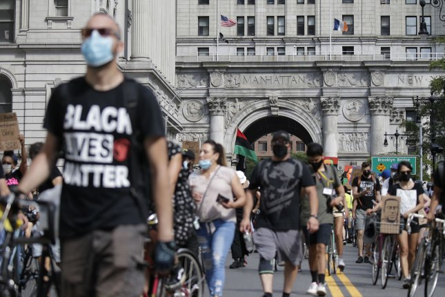 Protesters march in New York City on Juneteenth, June 19, the longest-running African-American holiday in the United States. The day is significant as it marks the day that slavery ended in the United States. File Photo by John Angelillo/UPI